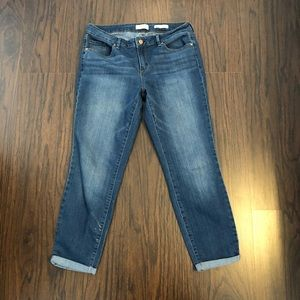 Jessica Simpson jeans roller crop skinny size 10